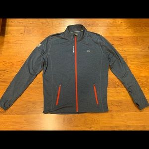 Lacoste Full Zip Dry-Fit Blue Athletic Jacket Sz 9